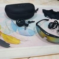 Jual  kacamata 5 lensa OKLEY KUANTUM  kacamata pria keren biker to T0210 Murah