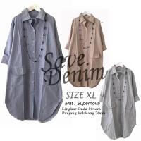Atasan Blouse Tunik Wanita Baju Muslim Blus Save Denim