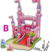 Jual Super 3D Puzzle Mainan edukatif DIY - Pink Castle  Murah