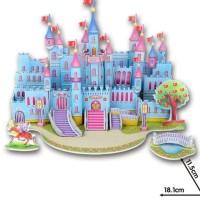 Jual Super 3D Puzzle Mainan edukatif DIY - Blue Castle  Murah