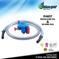 Selang gas dan Regulator Tabung Gas blue gas Paket