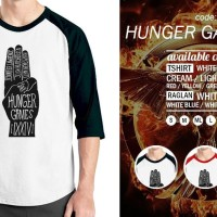 Harga raglan hunger games 01 tshirt baju kaos oblong distro | WIKIPRICE INDONESIA