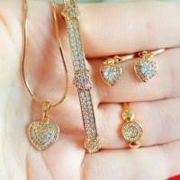 Jual Set Perhiasan Lapis Emas Murah