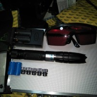 laser bakar biru 5000mw 2detik gosong
