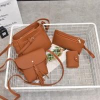 paket tas dapat isi 4 selempang wanita slingbag import korea batam