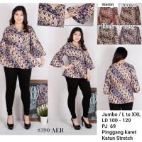 Jual Blouse batik jumbo / blouse lengan terompet / batik atasan cewek Murah