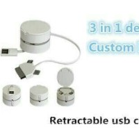 Jual Kabel Data 3 in 1 USB For iPhone 4. Micro. iPhone 5 Lightning Murah