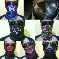 Masker Topeng Watch Dogs, Dota 2, Call of duty, joker, baff bandana