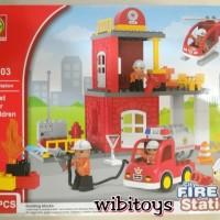 Jual lego Duplo Fire Station city 188-103 isi 60pcs Murah