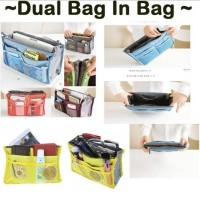 Jual Dual Bag in Bag Organizer / Tas dalam / Tas Korea / Travel organizer Murah