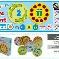 Jual puzzle edukatif angka / kartu edukasi anak mengenal angka Murah