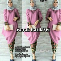 Set Batik Merak Dusty
