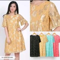 Jual Alexazeya Brukat Flare Mini Dress Murah