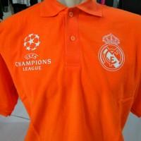 Jual Polo shirt-Tshirt-Kaos Kerah REAL MADRID UEFA CHAMPIONS LEAGUE Keren Murah