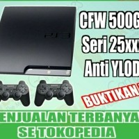 PROMO TERMURAH!!! Ps3 slim Cfw 4.81 HDD 500 GB seri 25xx anti ylod
