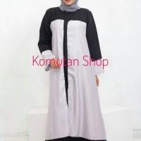 Long Dress JV Black Size Jumbo XL / Gamis Syar'i / Hijab Panjang Gaun