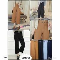 Jual 2349# celana kulot bahan bludru import Murah