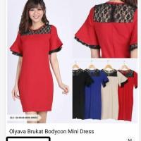Jual dress ricky// dress brokat bodycan Murah