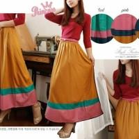 rok maxi panjang skirt muslim long bawahan wanita muslimah murah maxy