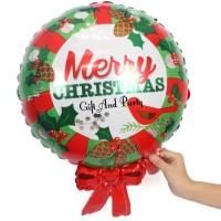 Jual Balon Foil Merry Christmas/ Balon Natal/ Balon Xmas/ Balon Santa Claus Murah