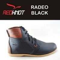Jual JUAL sepatu pria REDKNOT RADEO BLACK SYNTETIC LEATHER Warna hitam Murah
