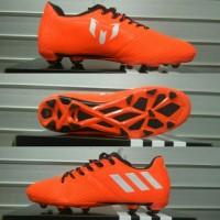 Sepatu Bola Adidas Messi Oren list Putih Grade Ori