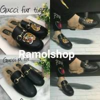 Jual Sepatu Sandal wanita Gicci pl dan tiger fur/ fashion wanit import Murah