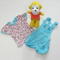 Baju Celana Overall Anak Bayi Perempuan Kucing Pink Tutu
