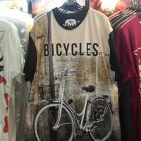 Jual Sepeda Baju-Kaos Fullprint 3D Thai Size XL Distro Unisex Bicycles Murah