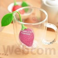 Jual  Saringan Teh Lucu Bentuk Strawberry  Strawberry Tea Bag Filt T2909 Murah