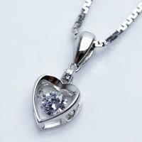 Kalung Perak EMAS PUTIH ASLI KOREA - WG 375 (Garansi 6 bulan)