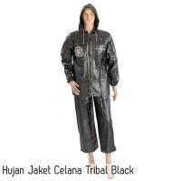 Jual Jas Hujan Jaket Celana Tribal Black Murah