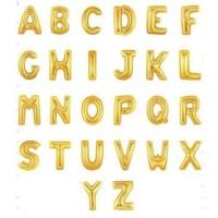 Jual Balon Foil Huruf Nama dan Angka Gold / Emas abjad Murah