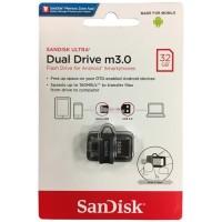 Jual SANDISK FLASH DISK USB OTG m3.0 32GB/UP TO 150 MB/S Murah