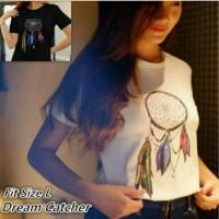 Jual Tumblr Tee / Kaos Wanita Dream Catcher - bahan spandex fit L 1R Murah