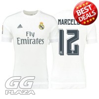 Jersey Sepakbola Real Madrid No 12 Marcelo Size L - White`4BMLZT-