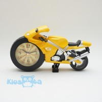 jam weker motor sport alarm clock kuning