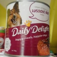 Jual Daily delight dog food wet beef 700 grm  Murah