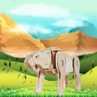 Jual Puzzle 3D Robotik Sabretooth Sound Control, DIY Puzzle 3D ROBOTIME  Murah