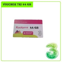 VOUCHER TRI 44 GB | VOUCHER KARTU THREE 3 KUOTA 44GB 4G LTE