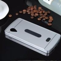 Bumper lg nexus 5 with back hard case cover acrylic pc aluminium metal