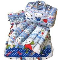 Jual Tas Bantal Guling Gendongan Alas Tidur Perlak Bayi Set 4 in 1 Chekiddo Murah