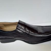 Sepatu Kerja Kantor pria Kickers pantofel Kulit Ular Asli