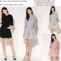 Jual S930 Dress casual pink hitam abu abuhijau kat KODE YT930 Murah
