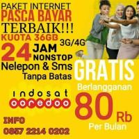 Paket internet indosat 36 GB 3g/4g 24 Jam Telepon Sms Gratis