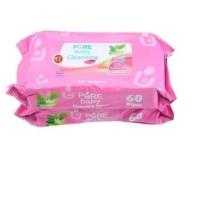 Pure Baby Cleansing Wipes nappy (tissiu basah bokong) 60's Harga 2pack