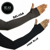 Manset tangan jempol selengan/long handsock fingerless/arm sleeve