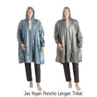 Jual Jas Hujan Poncho Lengan Tribal Murah