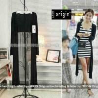 Jual japan long cardi VL cardigan wanita spandek stripe Terlaris Murah