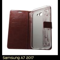 Samsung Galaxy A7 2017 A720 Retro PU Leather Flip Case Luxury Wallet